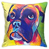 Animal Boxer Dog Personalized Customization Pillowcases,Throw Pillow Case Comfortable Cushion Cover Box Pillow Case Sofa Home Decoration 18' x 18' Inch 45cm