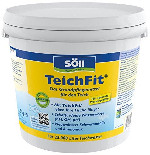 Söll 15140 TeichFit Grundpflegemittel für den Teich 2,5 kg - ganzjährig anwendbarer Wasseraufbereiter Stabilisator für Teichwasser im Gartenteich Fischteich Koiteich Schwimmteich