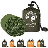 Backpacker's Journey Saco de dormir de emergencia ultraligero e impermeable, ideal para camping, senderismo y aventuras (verde)