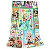 Cocomelon Kids Throw Blanket, Nursery Rhymes Cute Plush Throw Blankets for Couch and Bed , Soft Warm Fuzzy Microfiber Flannel Blanket Throws for Stroller Crib 50'x40' Inch All Seasons