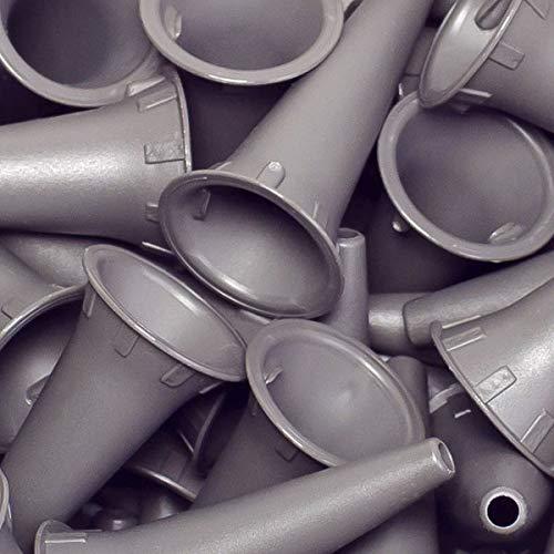 Einweg-Ohrtrichter von Luxamed für alle gängigen Otoskope, Farbe grau, 100 Stück im Beutel (4,0 mm)