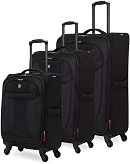 SwissGear 3 Piece Suitcase Set - Spinner Wheels - Softshell & Lightweight
