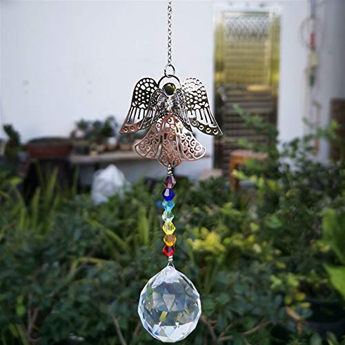 Kristall Suncatcher Guardian Engel Charme Facettierter Ball Prisma Anhänger DIY Kronleuchter Teile Fenster Home Weihnachten Hängende Dekoration (Color : Style 1, Size : Angel)