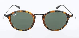 RB2447 Round Fleck Sunglasses, Spotted Black Havana/Green, 49 mm