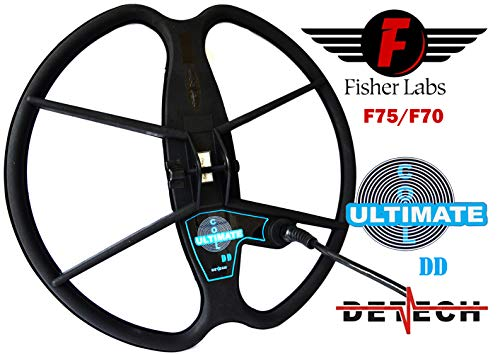 DETECH Search Coil For Fisher F75, F75+, F75 LTD & F70 Metal Detectors Water Proof Search Coil With Coil Cover Protector Included (13
