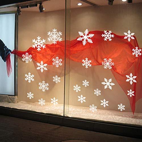 GVC 27 stücke Weihnachten Schaufenster Rot Weiß Schneeflocke Fenster Schaufenster Winter Glas Fenster Wandaufkleber Kinderzimmer Hause Neujahr Aufkleber
