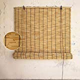 YAO YU Reed Roll Up Shades-Bambú Cortina-Cines, Sombrilla Al Aire Libre, As de Rodillos Apareables, Externo/Interno Retro Decorativo Natural, As Reed para Windows, 70X150Cm / 28X59In,150X260Cm/59X1