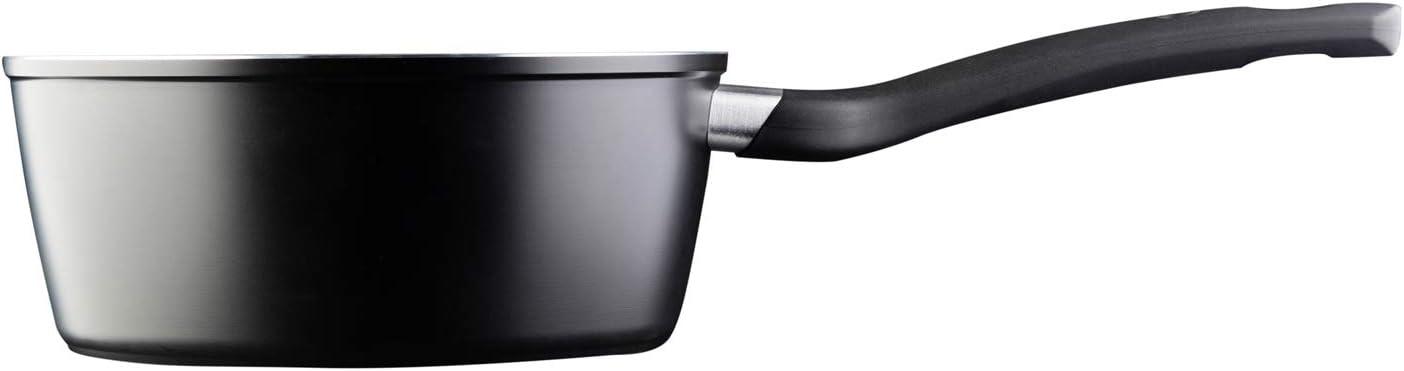 Glasdeckel Induktion MasterChef Saucentopf Antihaftbeschichtung 18 cm Inkl Ergonomische Griffe Geeignet f/ür alle Herdarten inkl