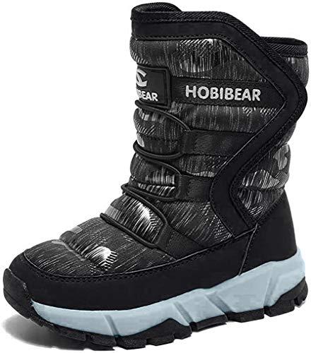 Niños Botas de Nieve niño niña Calientes Botas Zapatos Calientes Botas Anti Deslizante Impermeable Bota de Invierno