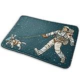 Green Space Dog Astronaut Decoración de Interiores alfombras de Dormitorio Alfombrillas de Cocina Alfombrillas para Puertas Alfombrillas para Exteriores 40x60cm hogar