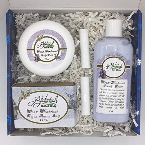 Winter Wonderland Bath and Body Gift Set, Spa Kit, Gifts Under 50, Hand Made Gift Set, Victorian Gift Set, Vegan Gift Set