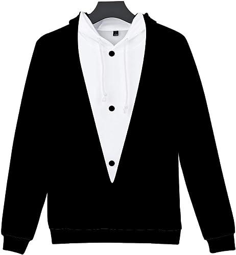 QSBY Unisexe Costume Unique 3D Imprime Peak Pull Pour des hommes Sweat à Capuche en Laine Polaire Pull Veste avec Capuche réglable et Poches Avant équipe Club Couple sweat à capuches,XXXL