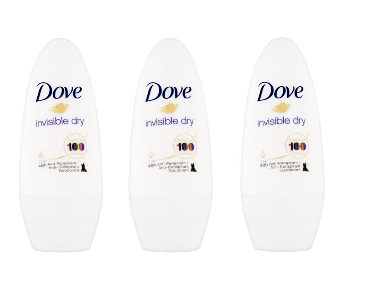 日いつか血統Dove Invisible Dry 48 Hs Anti-perspirant Roll-on Deodorant. 50 Ml. (Pack of 3) by Dove [並行輸入品]