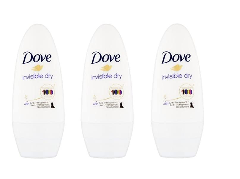 足拳ファイアルDove Invisible Dry 48 Hs Anti-perspirant Roll-on Deodorant. 50 Ml. (Pack of 3) by Dove [並行輸入品]