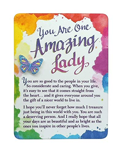 Blue Mountain Arts Miniature Easel Print with Magnet 'You Are One Amazing Lady' 4.9 x 3.6 in., Sentimental Mother's Day, Birthday, Anniversary, or Valentine's Day Gift Perfect for Her (MIN214)