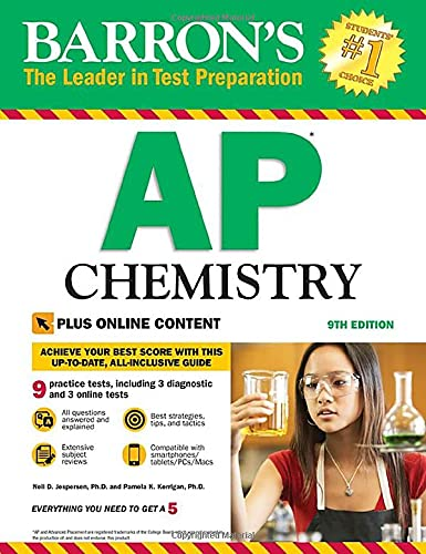 Compare Textbook Prices for AP Chemistry with Online Tests Barron's Test Prep Ninth Edition ISBN 9781438010663 by Jespersen Ph.D., Neil D.,Kerrigan Ph.D., Pamela