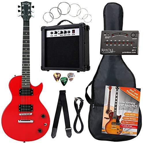 Rocktile L-Pack guitarra eléctr set rojo incl. Amp, bolsa, afinador, cable, correa,...