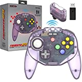 Retro-Bit Tribute 64 2.4 GHz Wireless Controller for Nintendo 64 (N64), Switch, PC, MacOS, RetroPie, Raspberry Pi and Other USB Devices - Atomic Purple
