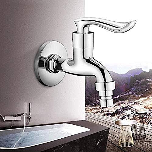 Kraankraan Chroom Bibcock Messing Muur Gemonteerd Badkamer Wasmachine Tap Tuin Outdoor Badkamer Water Blender
