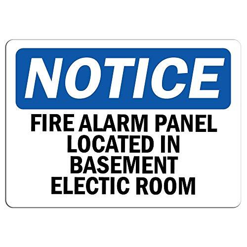 Señal de alarma de incendios en el sótano, señal de advertencia de metal para el hogar, al aire libre, letrero de precaución para decoración de habitación, garaje, 20 x 30 cm