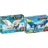 PLAYMOBIL DreamWorks Dragons Furia Diurna y Bebé Dragón con Niños, a Partir de 4 Años (70038) + DreamWorks Dragons Astrid y Tormenta, A Partir de 4 años (9247)