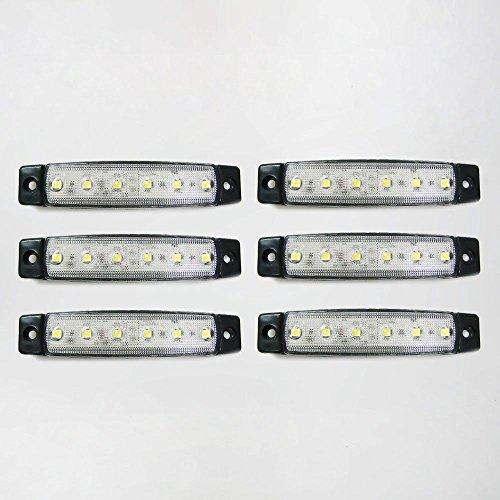 Universel 6 x 12 V LED Blanc SMD clair Indicateur Side Marker lumière