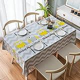 XXDD Impresión de Mantel de Cocina para el hogar a Prueba de Aceite, Mesa Rectangular de protección, Cubierta de Mesa Impermeable de plástico A4 140x140cm