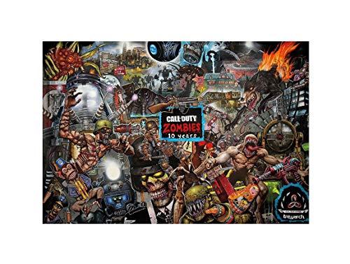 "Call of Duty Black Ops 4 Zombies 10 Years Game Print 11x17 13x20 18x24 (11""x17""(27x43cm))"