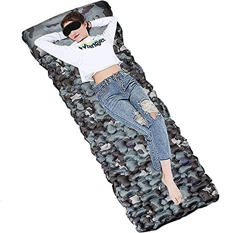 Etechydra Materassino Campeggio Tappetino da campeggio con cuscino, materassino gonfiabile, ultraleggero, per zaino in spalla, campeggio e trekking