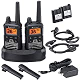 Midland X-TALKER 36 Channel GMRS Two-Way Radio - Extended Range Walkie Talkies, 121 Privacy Codes, NOAA Weather Scan + Alert (Black/Silver, 2-Pack)