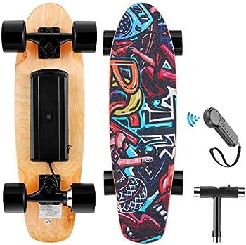 Wookrays Electric Skateboard with Wireless Remote Control