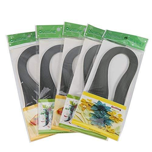 NoBrand 600 Quilling-Papier, gestreift, Basteln, 3 mm breit, Papier, Papier, Farbe reine Dekoration (hellgrau)