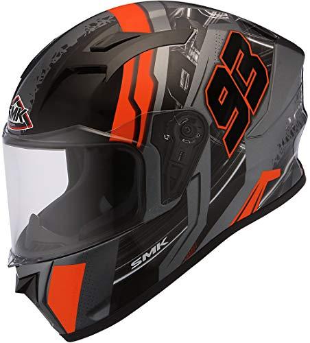 SMK Casco de moto Stellar Swank negro/naranja, XXL (63/64)
