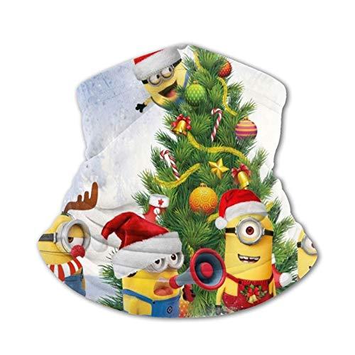 Nicegift Minion Christmas Children Warm Bufandas Pañuelos de Cabeza Multifuncional Headwear para niños y niñas Toallas faciales elásticas Bufandas Lavables