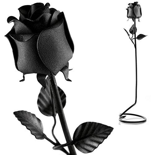Rosa de Hierro forjada a mano –100 % forjada en hierro negro–regalo único de aniversario
