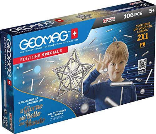 Geomag Silber, Spezial Edition, 106-teilig,...