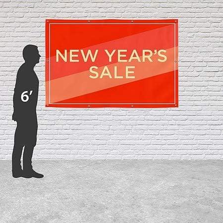 CGSignLab Modern Diagonal Heavy-Duty Outdoor Vinyl Banner 12x8 New Years Sale