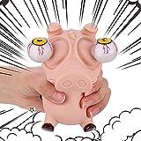 Newest Squishy Eye Popping Flippy Pig - Squeeze Fidget Stress Relieve Toy - Gag Stock Fishers - Reductor de ansiedad Play sensorial - Gran regalo para niños pequeños y niñas - adecuado para autismo