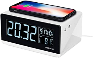 10W Qi Standard Three Modes Fast Charging Wireless Charger Multi-functional LCD Alarm Clock for iPhone XS Max / 8 Plus/XR/Android LCD Digital Negative Display LED Digital Clock Snooze Night Light