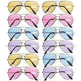 THE TWIDDLERS 12 Coloridas Gafas de Sol de Aviador para Hombres, Mujeres y Niños