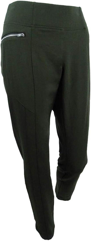 Inc Womens Curvy Fit Skinny Leg Ankle Pants Green 6