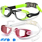 Swim Goggles, Pack of 2, Swimming Goggles for Adult Men Women Youth Kids