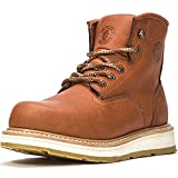 ROCKROOSTER Men's Work Boots, 6 Inch Soft Toe Boot, Wedge Sole, Arch Support Anti-Fatigue Shoes, Water Resistant Leather EH Safety Boots, AP615 (Numeric_15)