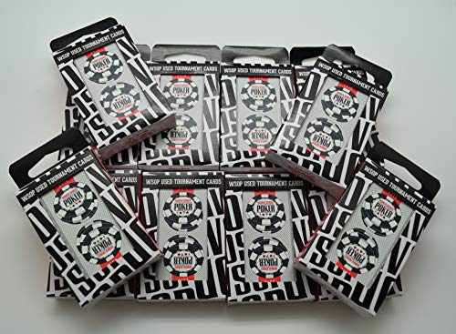 WSOP Set of 12 Authentic Black Decks Dealt at Used Copag Plastic Playing Cards 2016