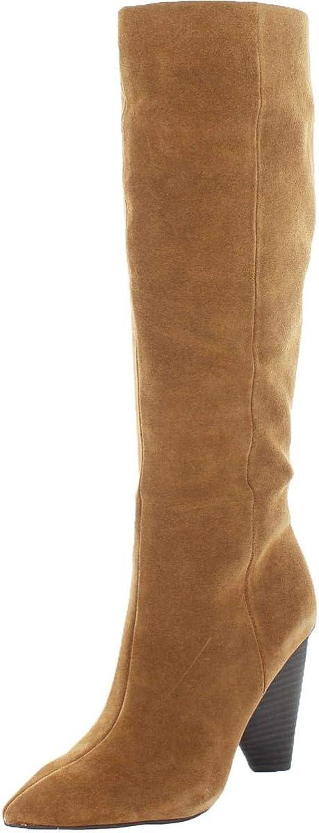 Vince Camuto Womens Modesie Suede Cone Heel Knee-High Boots Tan 10 Medium (B,M)