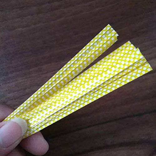 paletur88 100 Teile/Tasche Bunt Punkte Fliegen Draht Tasche Verschlüsse Abdichtung Kuchen (Rot) - Gelb, Free Size