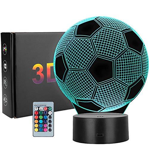 3D LED Luz de noche Ilusión óptica Lámpara de mesa Luz iluminación 7 colores de control remoto con Acrílico Plano & ABS Base & Cargador usb