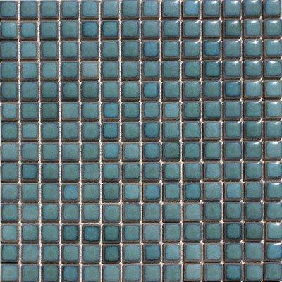 『廣美陶房 窯変 モザイク19ミリタイル N-206 ターコイズグリーン』の1枚目の画像