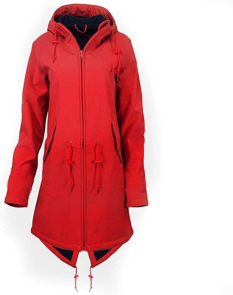Womens Rain Jacket Plus Size Rain Coats with Hood Llightweight Long Anoraks Trench Outdoor Windbreaker Waterproof Poncho