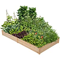 Yaheetech Wood Raised Garden Bed Boxes Kit ( 92.3 x 47.4 x 10 in)